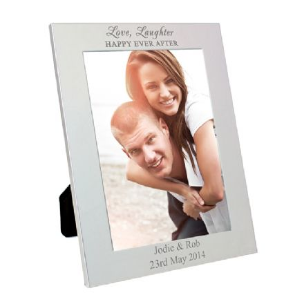 Personalised Silver 5x7 Happily Ever After Frame